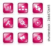 seo internet sign square vector ...   Shutterstock .eps vector #266672645
