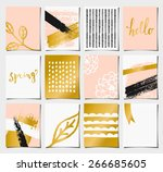 a set of 12 templates for...   Shutterstock .eps vector #266685605