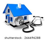 3d. house  healthcare and... | Shutterstock . vector #266696288