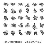 rose motif botanical set ... | Shutterstock .eps vector #266697482
