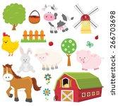 farm set | Shutterstock .eps vector #266703698