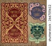 vector vintage items  label art ... | Shutterstock .eps vector #266705612