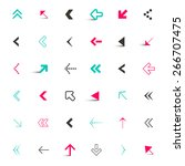 vector arrows set isolated on... | Shutterstock .eps vector #266707475