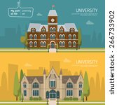 university building vector... | Shutterstock .eps vector #266733902