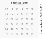 36 business line icons | Shutterstock .eps vector #266734418