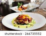 seafood appetizer on restaurant ... | Shutterstock . vector #266735552