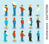 business people isometric 3d...