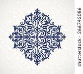vector vintage pattern in... | Shutterstock .eps vector #266742086