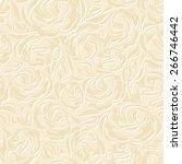 vector seamless vintage beige... | Shutterstock .eps vector #266746442