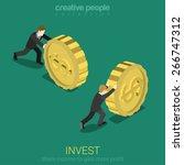 money invest flat 3d web... | Shutterstock .eps vector #266747312