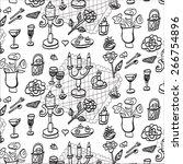 romantic set pattern | Shutterstock .eps vector #266754896