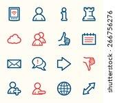social media web icons | Shutterstock .eps vector #266756276