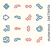 arrows web icons set | Shutterstock .eps vector #266756936