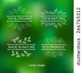 labels for organic and natural... | Shutterstock .eps vector #266765312