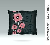 black pillow with abstract... | Shutterstock .eps vector #266771822
