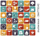 food and cooking flat icons.... | Shutterstock .eps vector #266773142
