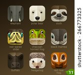Animal Faces For App Icons Set...