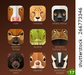 animal faces for app icons set... | Shutterstock .eps vector #266773346