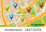 texture map with set markers | Shutterstock .eps vector #266776256
