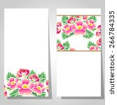 abstract flower background with ... | Shutterstock . vector #266784335