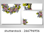 abstract flower background with ... | Shutterstock . vector #266796956