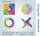 vector infographic template  ... | Shutterstock .eps vector #266799122
