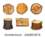 Wood  Vector Set Banners And...