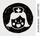 nurse doodle drawing   Shutterstock .eps vector #266807702