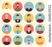 male character faces avatars.... | Shutterstock .eps vector #266813522