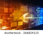 abstract concept of business... | Shutterstock . vector #266824115