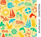 seamless pattern of colored... | Shutterstock .eps vector #266825006