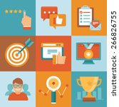 vector flat customer service... | Shutterstock .eps vector #266826755