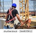 construction worker is working | Shutterstock . vector #266835812