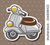 transportation motor theme... | Shutterstock .eps vector #266838422