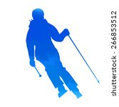 Bright Blue Woman Skier