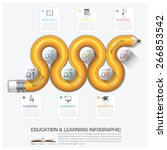 education and learning step... | Shutterstock .eps vector #266853542