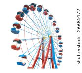 the ferris wheel isolated on... | Shutterstock . vector #26685472