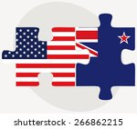 vector image   usa and new... | Shutterstock .eps vector #266862215