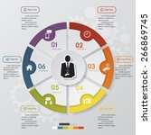 6 step chart template graphic...   Shutterstock .eps vector #266869745