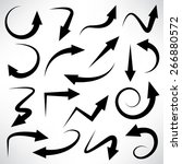 set of arrow icons  vector | Shutterstock .eps vector #266880572