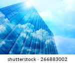 Closeup Building Glass Of...