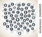 social network | Shutterstock .eps vector #266886005
