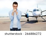 phobia  fear  sorrow and people ... | Shutterstock . vector #266886272