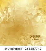 Gold Crystal Abstract Pattern....