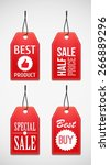 sale tag. coupons.  | Shutterstock .eps vector #266889296