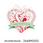 happy mothers day heart ornament | Shutterstock .eps vector #266890202
