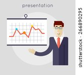 businessman giving a... | Shutterstock .eps vector #266890295