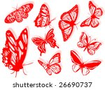 butterfly silhouettes to... | Shutterstock . vector #26690737