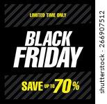 black friday poster. sale | Shutterstock .eps vector #266907512