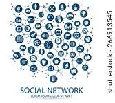 social network  | Shutterstock .eps vector #266913545
